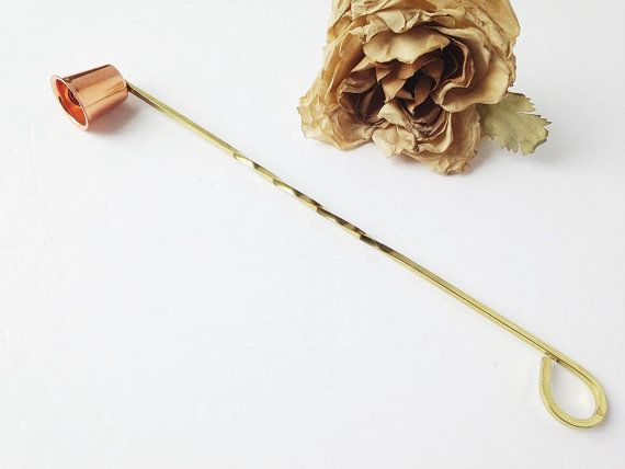 Vintage Copper Candle Snuffer / Copper Candle Snuffer by AandSVintageShop…