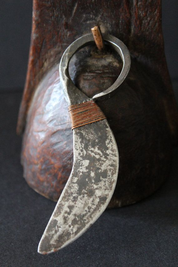TURKANA finger knife worn like a tribal ring. by Timbuktugallery