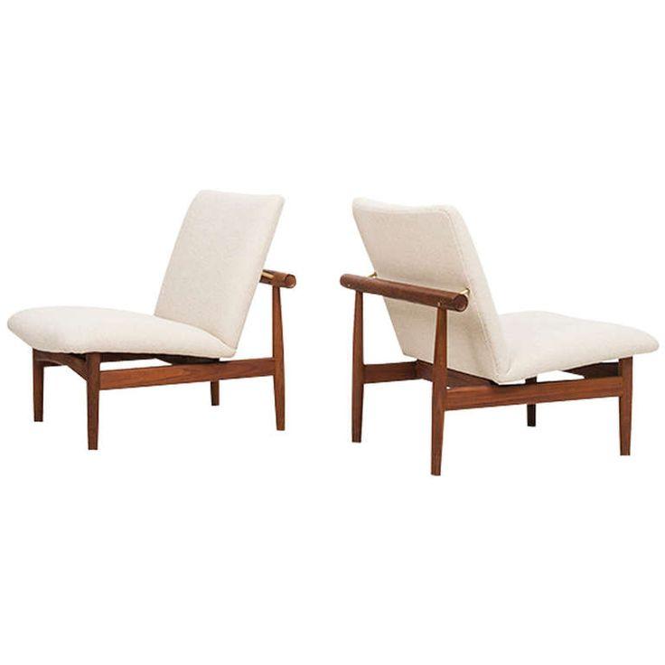 Superior Finn Juhl Easy Chairs, Model FD 137 / Japan, Produced By France And Son,  Denmark