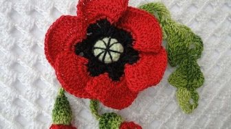Роза с бутонами Rose and flower buds Crochet - YouTube
