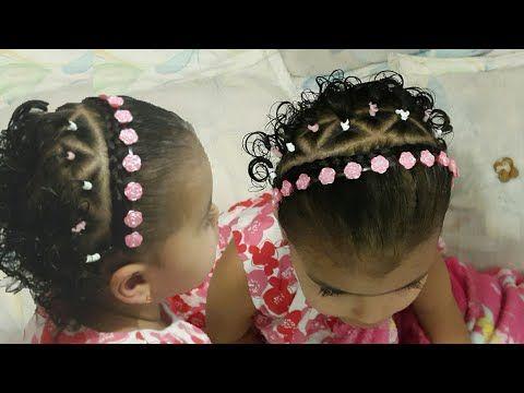 Peinado con trenzas para bebés   Trenza medio corazón con cinta para bebé   Baby hairstyle - YouTube