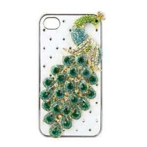 Greenery* 3D Bling Crystal Peacock Hard Cover Case Design for iPhone 4 4S (White) by Greenery Cover. $7.89. Bling Crystals make your phone stand out!. More Choices. Made of High quality hard plastic with Rhinestones!. This case hugs your iPhone and keeps it safe from scratches. It can bring you a fashionable way to protect your iPhone 4/4S. Greenery Team Greenery focuses on manufacturing high quality electronic,provides rechargeable batteries, chargers,power pack a...
