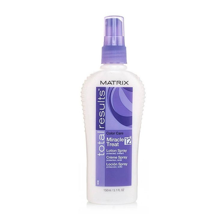 Matrix Total Results Colour Care Miracle Treat Matrix Total Results Colour Care Miracle Treat 12 Spray has 12 benefits:- 1. Conditions for instant silkiness. 2. Protects color-treated hair. 3. Detangles. 4. Strengthens. 5. Seals the hair from dama http://www.MightGet.com/may-2017-1/matrix-total-results-colour-care-miracle-treat.asp