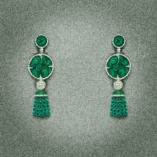 Matching earrings for imperial jade medallion ...#imperialjade #florencejewlers #jewelrydesign