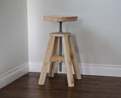 Adjustable Height Wood And Metal Stool Wish It Could Look
