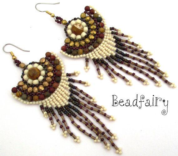 Autumn's Glow Earrings by BeadfairyStore on Etsy