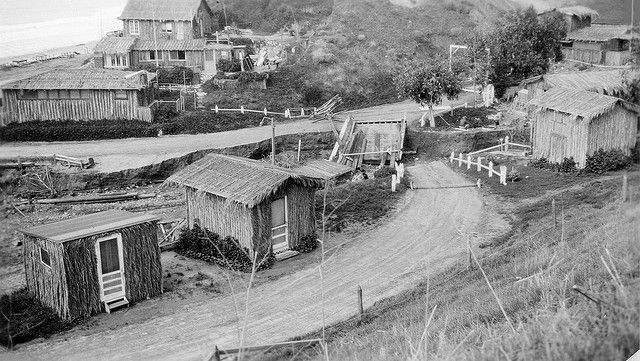 Crystal Cove with flood damage, 2-16-1937 by Orange County Archives, via Flickr