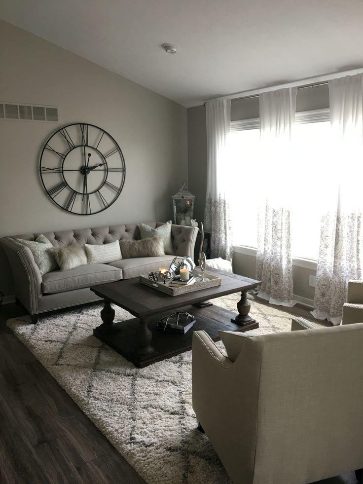 XXL wall clock Shelton sofa Living room