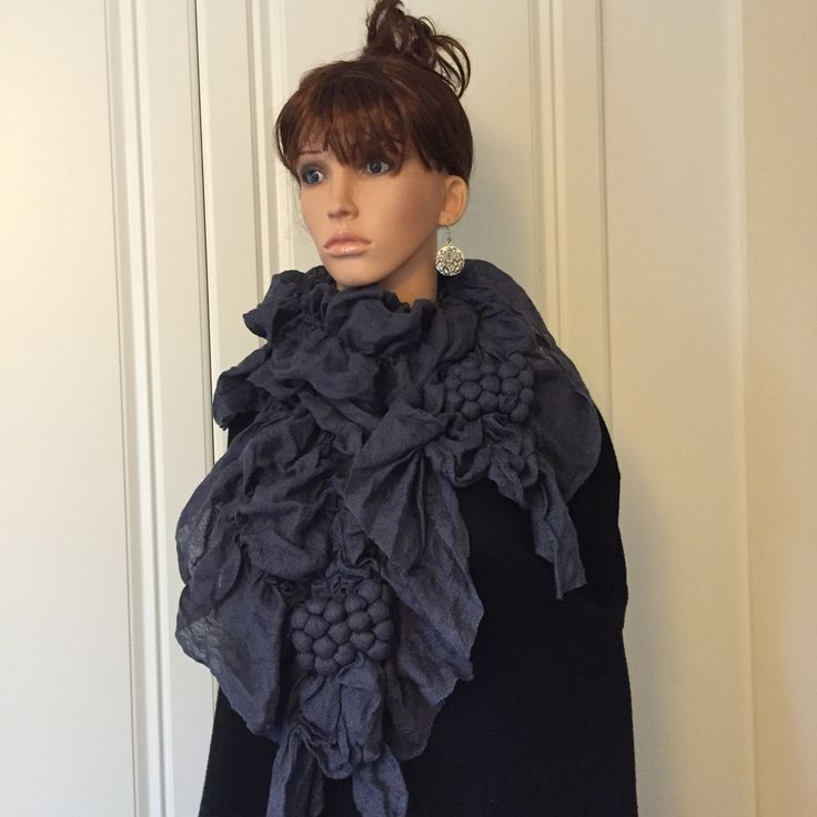 Scarf by Pure of London in RAF Blue