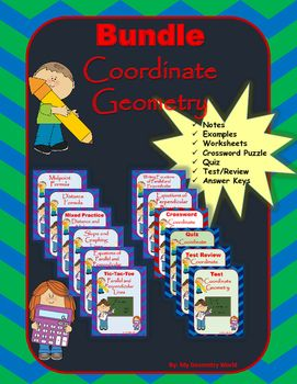 Save 50% on this Geometry bundle that includes every resource from the Coordinate Geometry unit.