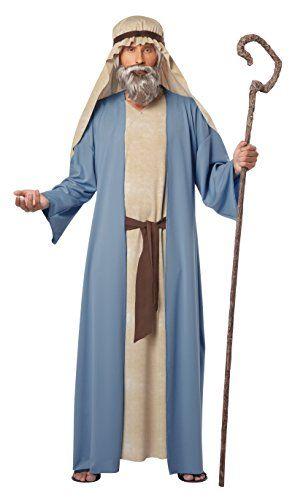 california costumes menu0027s herdsman noah adult costume bluetan smallmedium robe with attache overcoat headpiece
