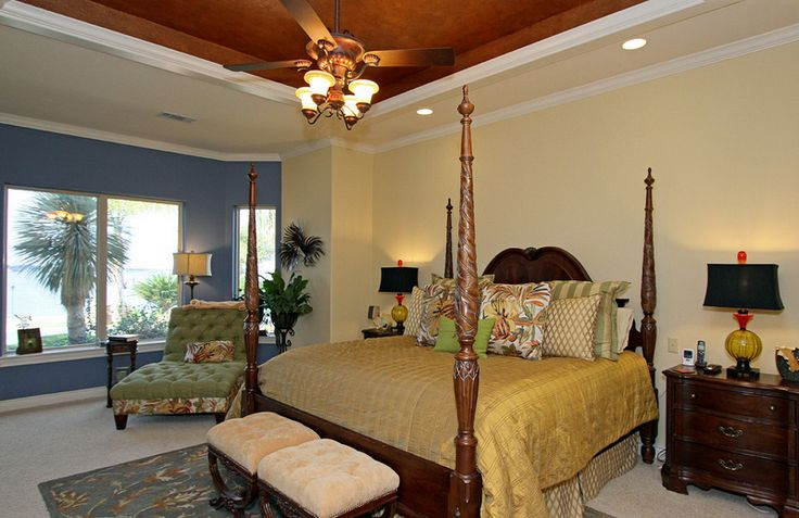 Mediterranean Master Bedroom Interior Design