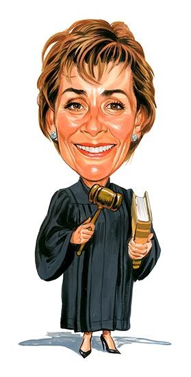 Judith Sheindlin as Judge Judy ....artwork by ExaggerArt http://exagger-art.artistwebsites.com/