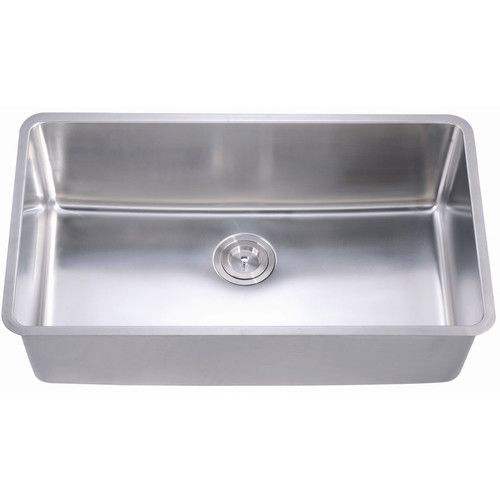 Versastyle Extra Long Rectangular Deep Single Bowl Kitchen Sink with Multiple Accessories