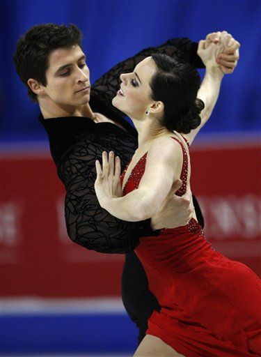 Canada's Tessa Virtue, right, and Scott Moir perform their compulsory dance in the ice dance competition at the Home Sense Sk http://nimg.sulekha.com/others/thumbnailfull/tessa-virtue-scott-moir-2009-