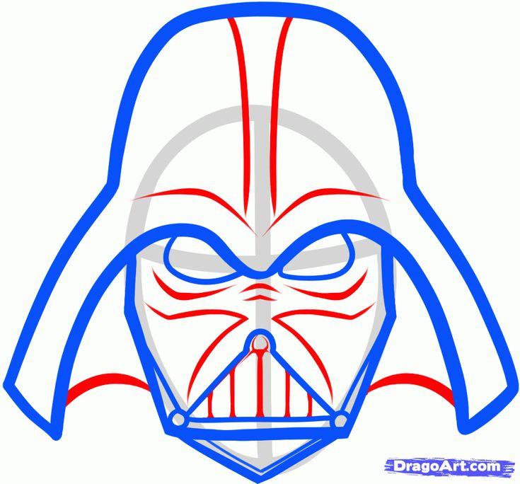 Easy Darth Vader Mask Drawing