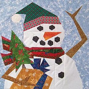 Free Paper Doll Quilt Pattern Free Free Snowman Quilt