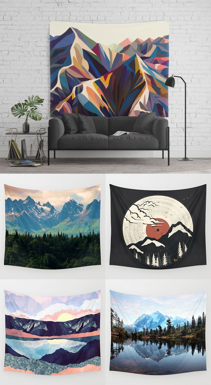 Shop MOUNTAIN tapestries from Society6. TONS of designs to choose from, all designed by independent artists and printed on demand.