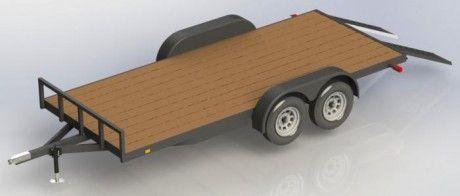 Flat Bed Trailer Plans 8′ x 16′ (wooden deck) | Flade Sko, Senge og Terrasser