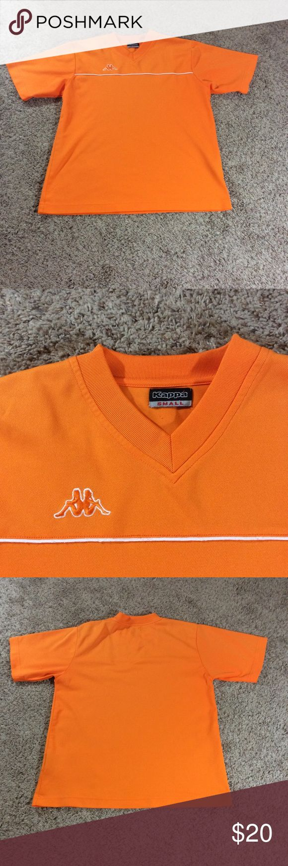 """Kylie Jenner kappa unisex jersey Unisex Kappa Soccer Jersey. Orange. Size small. Approx Measurements Laying Flat: Pit to Pit 19"""" Top of Shoulder to Bottom Hem 25"""" Excellent used condition with no flaws. kappa Tops"""