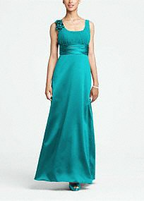 This elegant ball gown is memorable and unique, a great choice for any member of the bridal party. $49