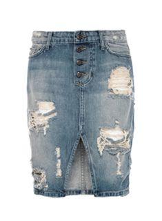 20 best jeans pencil skirt images on Pinterest