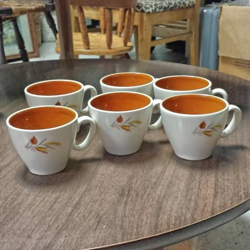Check out this item in my Etsy shop https://www.etsy.com/listing/218873627/vintage-mid-century-coffee-cups-tea-cups