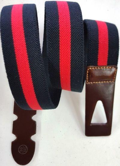 Cinturones de lona de la máxima calidad en estampado bandera de rayas anchas, con ancho de 35mm y también con ribetes.