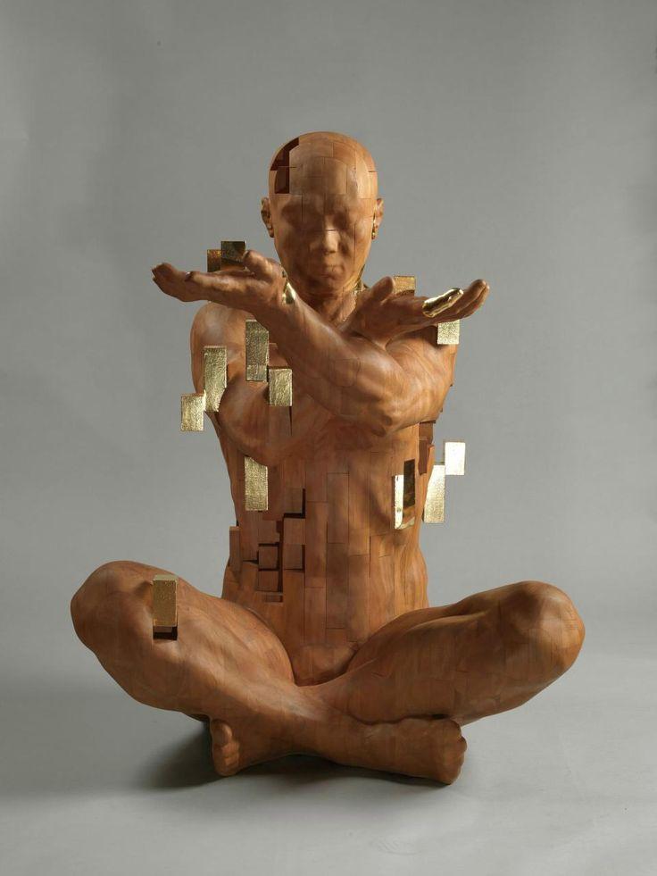 Best Wood Carving Images On Pinterest Wood Sculpture - Taiwanese artist creates wooden sculptures that look like digital glitches