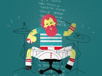 Drummer by Florian Contegreco. #drummer #illustration #music