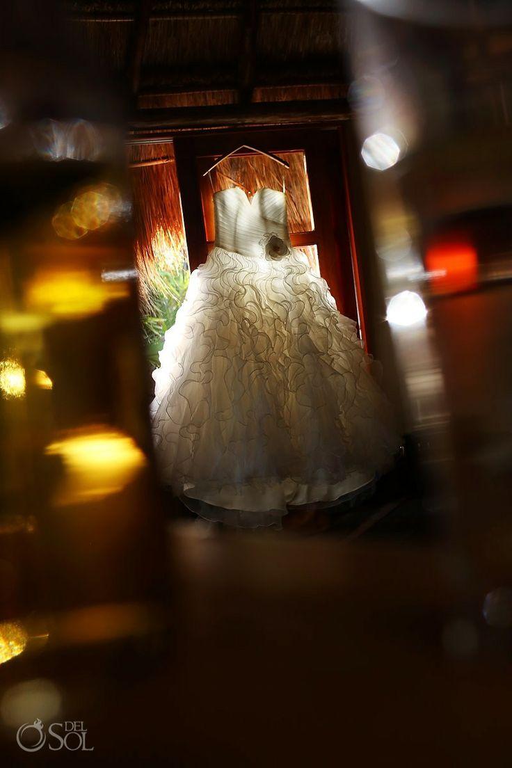 Bridal gown by @Mori Lee by Madeline Gardner for a destination wedding at Nueva Vida de Ramiro in Tulum, Riviera Maya. Mexico wedding photographers Del Sol Photography. - Hang Me Up...