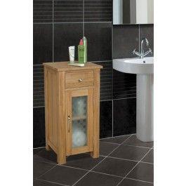 Mobel Oak Solid Oak Bathroom Unit Small