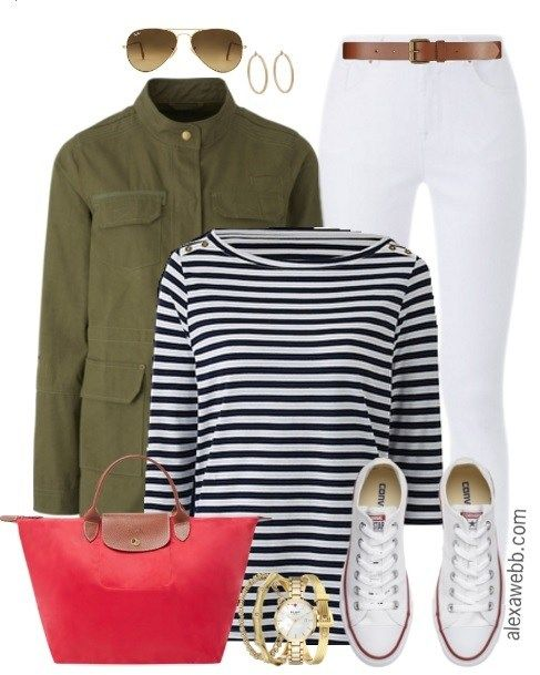 Plus Size Khaki Jacket Outfit - Plus Size Fashion for Women - alexawebb.com #alexawebb