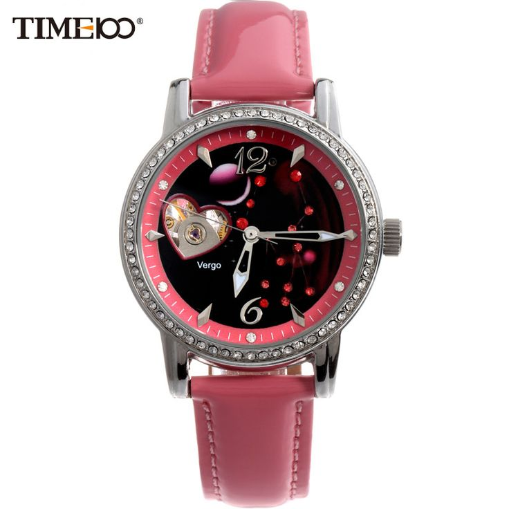 US $53.28 - TIME100 Ladies 12 Constellation Virgo Automatic Self-winding Mechanical Wrist Watch Relogio Diamond Women Watches Reloj Mujer