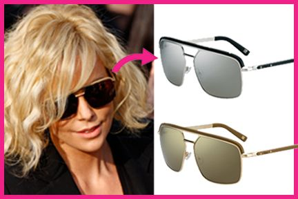 the updated #aviator #sunglasses, shown here by dazzling actress #charlizetheron in #dior havane square aviators make for the perfect, #casual #accessory
