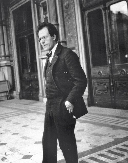 Gustav Mahler at the Vienna Court Opera, 1903.