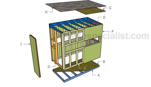 4x8 deer stand plans deer blind plans pinterest roof for Octagon deer blind plans