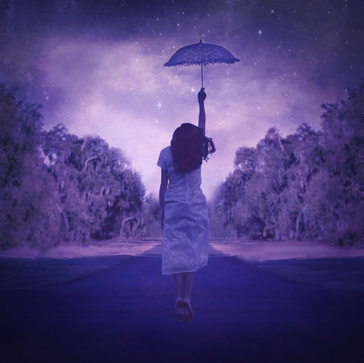Florida-based Terra Kate takes beautifully surreal photos that straddle the line between art and photography. : Colors Purple, Display Terrakate9Jpg, Art Photography, Dreams Inspiration, Surrealism Photography, Purple Umbrellas, Terra Kate, Art Pictures, Dreams Fillings