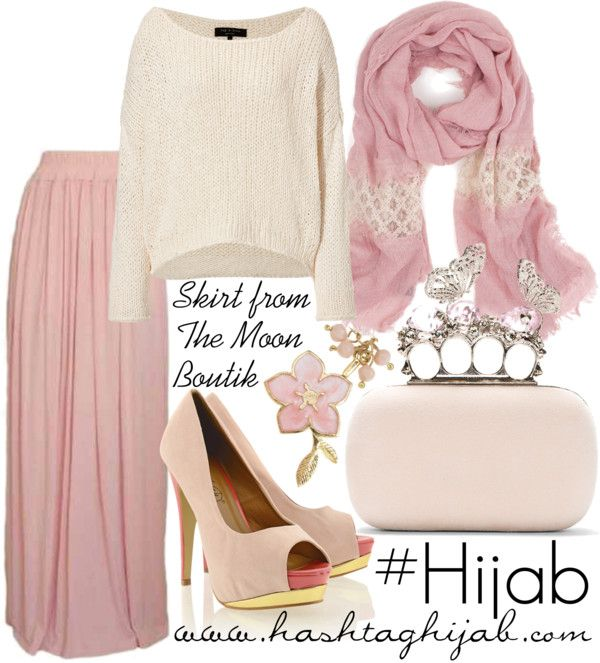 I like this color of pink. But almost all hijabi outfit posts have heels in them. Heels are Haram. Just advising