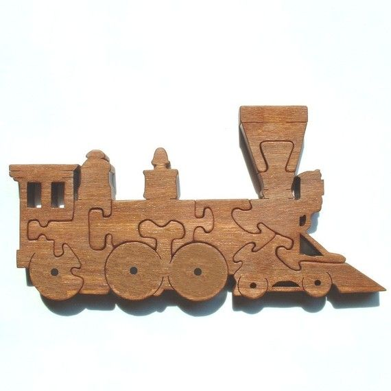 Steam Engine  Train  Wood Puzzle Game  New Toy  by GrampsWoodShop, $19.95