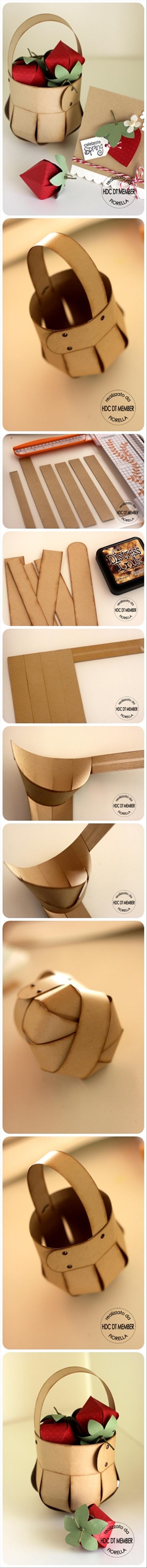 canasta de papel