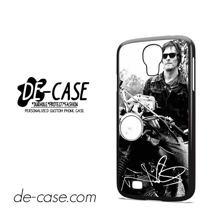 Norman Reedus And His Bike DEAL-8018 Samsung Phonecase Cover For Samsung Galaxy S4 / S4 Mini