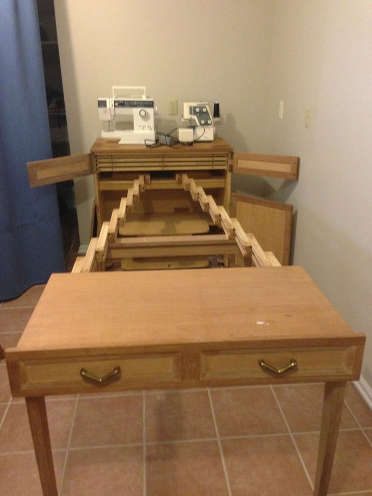 org on pinterest sewing machine tables craft tables and cabinets
