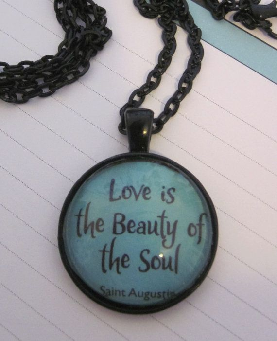 Love Resin Pendant Charm Necklace by KikisJewels on Etsy, $10.00