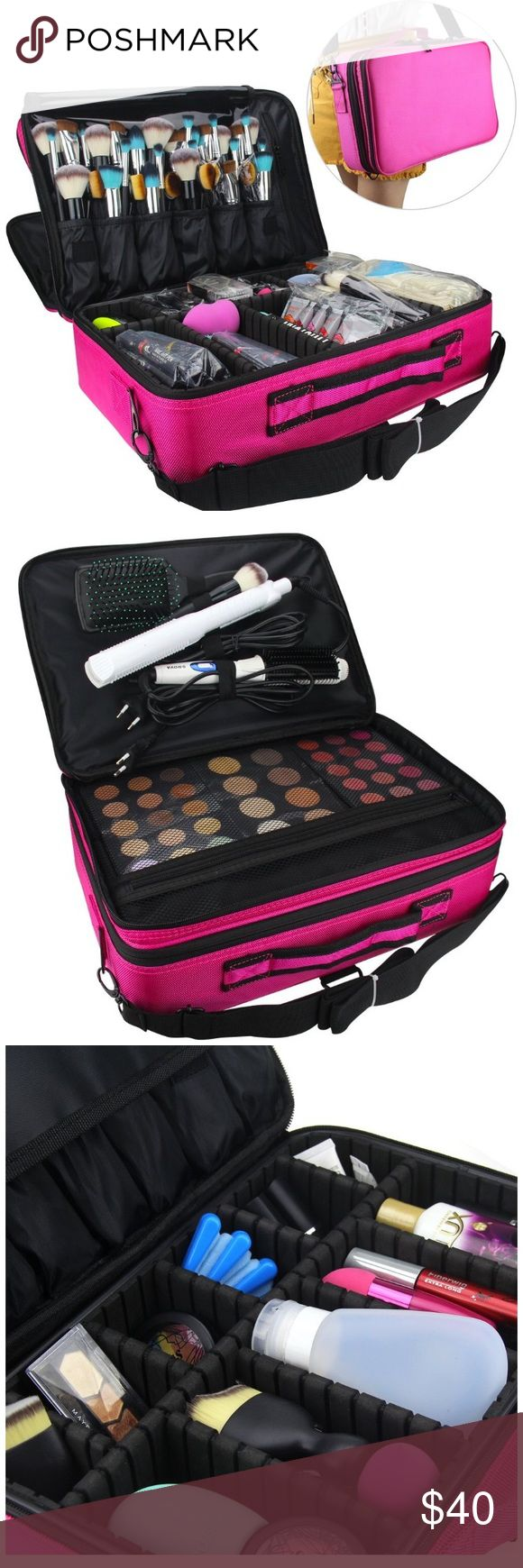 Makeup 3 Layer Cosmetic Case with Shoulder Strap The Makeup Train Case is a and compact makeup case to ensure the safety and organization of your cosmetics and tools This case can easily fit our Perfect Canvas Convention, Eye Shadow Singles, and LL Creams The case design is so versatile that it can also be used to store nail art products, our UV dryers and fashion accessories. Its uses are limited by your imagination This is a great buy for tweens and makeup novices. Bags Cosmetic Bags…
