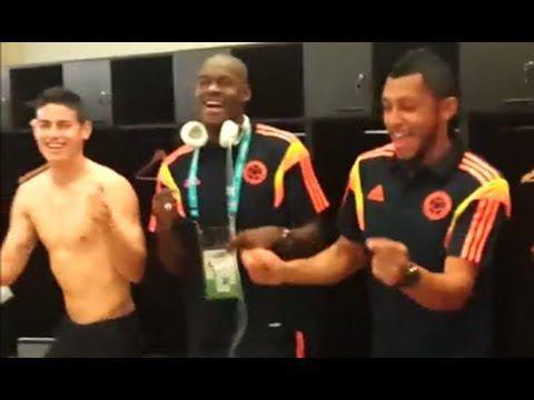 Celebración de la Selección en el Camerino   #Colombia 3-0 #Grecia #Brasil2014