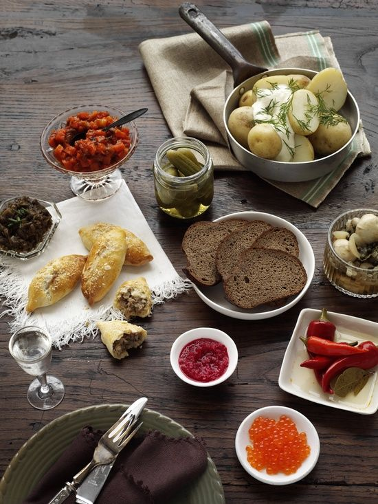 A few Russian delicacies, photo courtesy of Old Samovar.