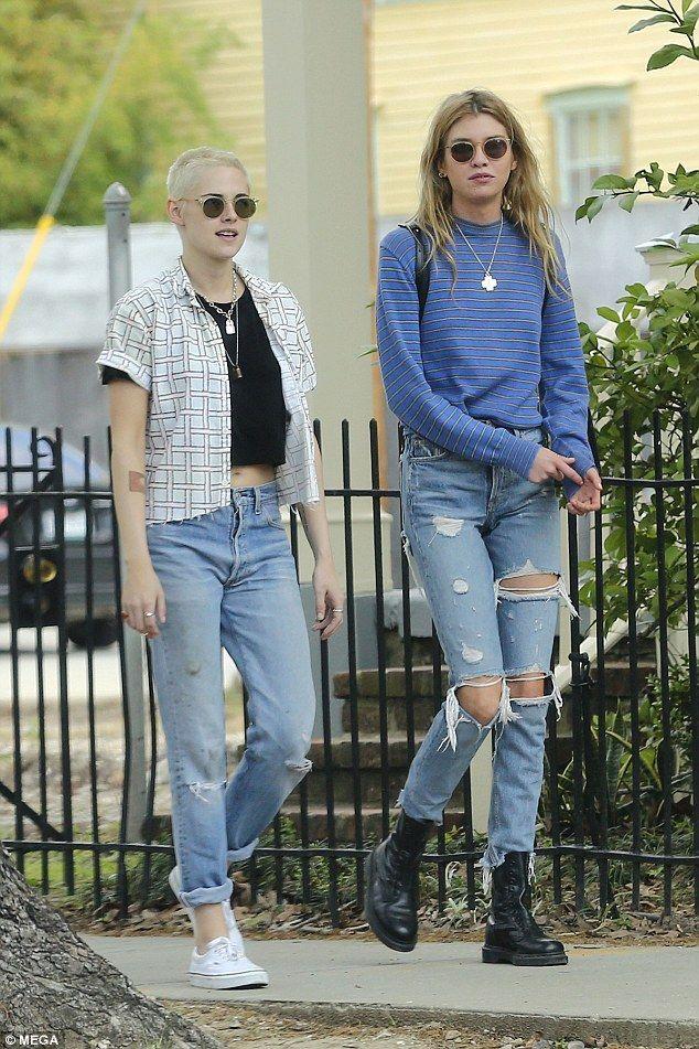 Weekend walk: Kristen Stewart was spotted on Sunday enjoying a sunlit stroll with her girl...