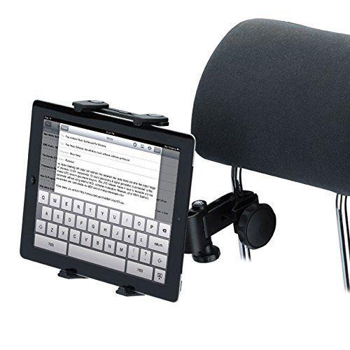 Tomkity Support Tablette Voiture Auto appuie tete 7-10″ pouces pour Ipad Air Ipad Mini Samsung: Réglable de 12cm à 22cm, convient à toutes…