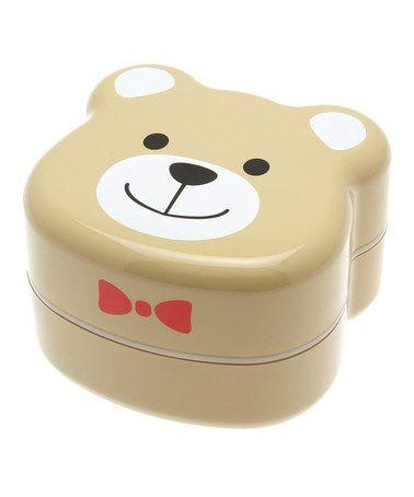 Love this Brown Teddy Bear Bento Box by Kotobuki Trading on #zulily! #zulilyfinds